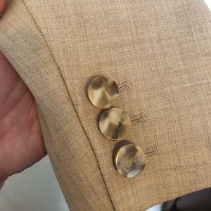 Escada Jackets & Coats - Vintage Escada tan two button blazer size 38